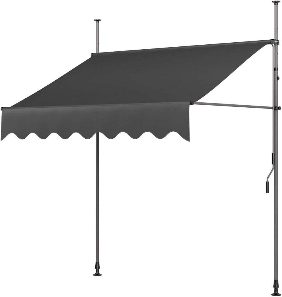 MVPower Toldo Articulado con Armazón, Terraza Balcón Toldo Extensible, Resistente a Los Rayos UV,200 x 120 cm